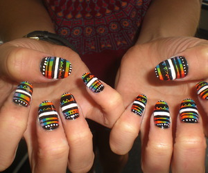 aztec, manicure, and nail art image