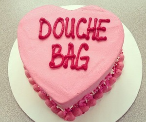 cake, douche bag, and pink image