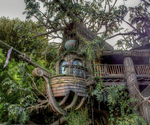 beautiful, tree house, and treehouse image