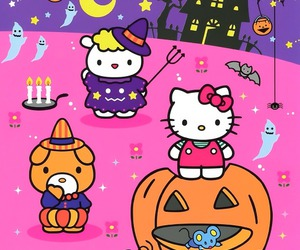 Halloween, hello kitty, and pastel image