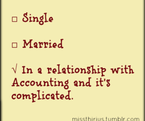 accounting and in a relationship image