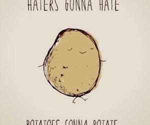 potato, haters, and funny image