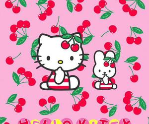 bunny, cherries, and hello kitty image