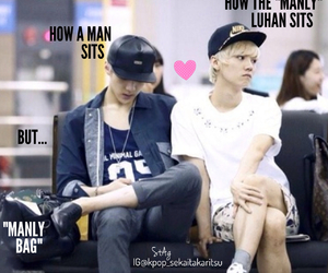 exo, manly, and luhan image