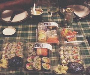 food, grunge, and sushi image