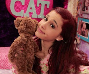 ariana grande, cat valentine, and cat image