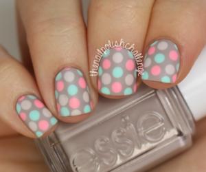 nails, dots, and pink image
