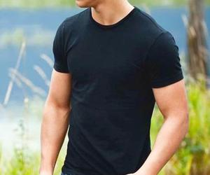 Taylor Lautner and man image