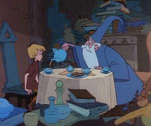 disney, king arthur, and tea image