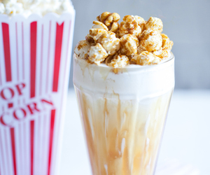 sweet, food, and popcorn image