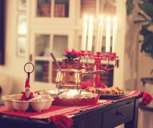 christmas, light, and candles image