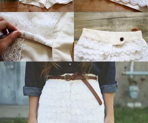 diy, shorts, and white image