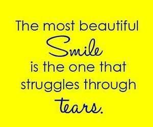 quotes, smile, and tears image