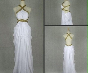 dress, white, and prom dress image