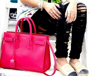 bracelets, chanel flats, and tops image