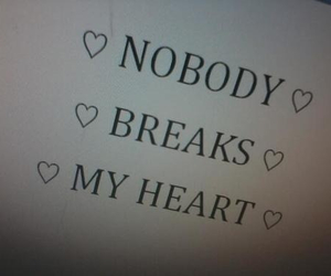 heart, quotes, and nobody image