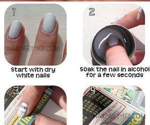 nails, diy, and newspaper image
