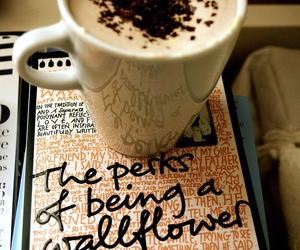 book, coffee, and coffe image