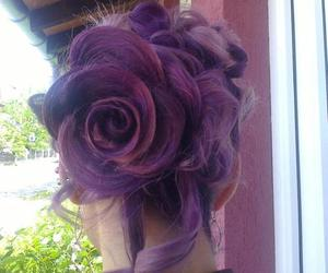 style, hair, and rose image