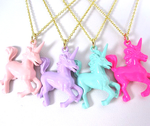 pink, unicorn, and necklace image