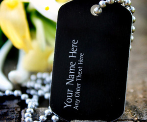 black, dog tag, and jewerly image