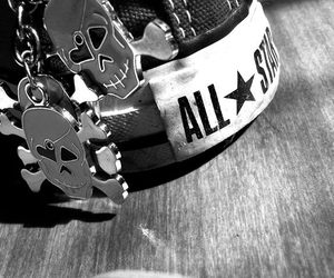 all star, skull, and converse image