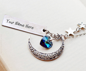 heart, necklace, and name necklace image