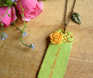 necklace, name necklace, and vintage necklace image