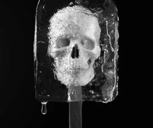 skull, ice, and ice cream image