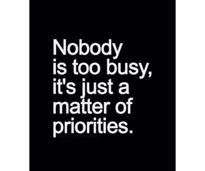 priorities and quote image