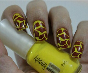 beauty, giraffe, and nailpolish image