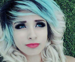 blonde, blue, and emo image