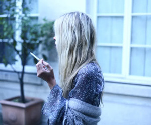 blonde, cigarette, and girl image
