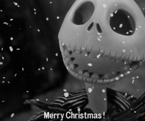 christmas, jack, and black and white image