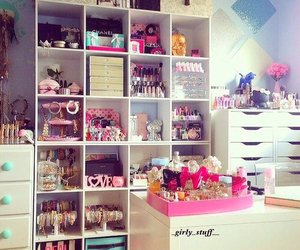 room, decor, and pink image