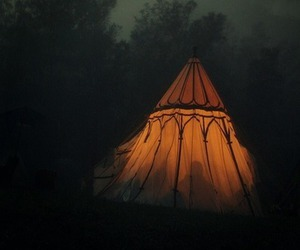 nature, night, and tent image
