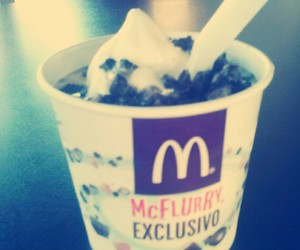 food, mc donalds, and mcflurry image