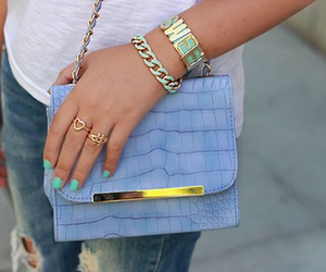 bag, blue, and pretty image