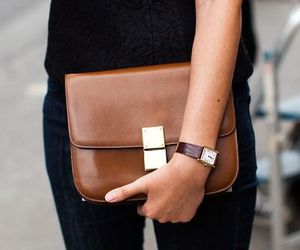 bag, celine, and leather image