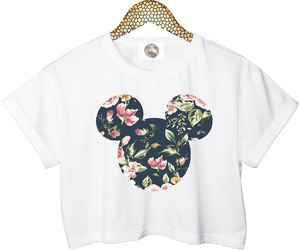 floral and mickey image