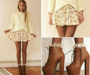 boots, girl, and clothes image