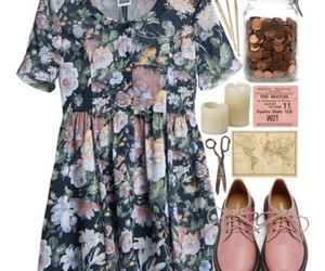 Polyvore, fashion, and floral image