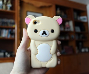 iphone, bear, and phone image
