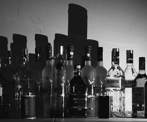 alcohol, black and white, and bnw image