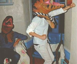 funny, dinosaur, and party image