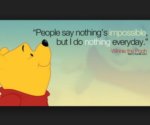quote, Lazy, and pooh image