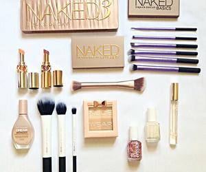 cosmetics, eyeshadow, and gold image