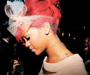 rihanna, tattoo, and red image