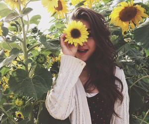 flowers, sunflower, and rowan blanchard image