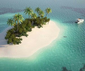 Island and ocean image